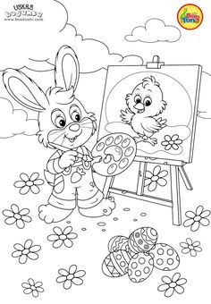 Easter coloring pages - Uskrs bojanke za djecu - Free printables, Easter bunny, eggs, chicks and more on BonTon TV - Coloring books Easter Coloring Pages, Coloring Sheets For Kids, Colouring Pages, Adult Coloring, Coloring Books, Free Printable Coloring Pages, Free Printables, Easter Basket Template, Easter Crafts