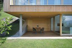 Haus DB Klaus — ARCHITEKTUR Jürgen Hagspiel Concrete Wood, House On A Hill, Architect Design, Pergola, Sweet Home, Villa, Outdoor Structures, Interior, Outdoor Decor