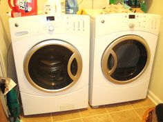 Savvy Chic Home: Easy Washer and Dryer Stand Tutorial Washer And Dryer Stand, Love Your Home, Laundry Room, Washing Machine, Chic, Easy, November, Budget, Hacks