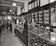 Offterdinger Cigar Store and Soda Fountain in Washington, D.C. 1926.