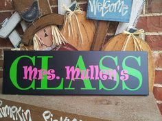 Teacher Classroom personalized wood Sign by vinylupyourspace, $32.00