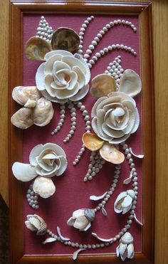 Diy Sea Shell Projects 19 - Awesome Ideas To Be Done With Seashells Sea Glass Crafts, Sea Crafts, Diy Arts And Crafts, Seashell Art, Seashell Crafts, Flower Crafts, Shell Bouquet, Seashell Projects, Diy Projects