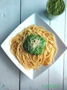 Pesto, Spaghetti, Ethnic Recipes, Food, Essen, Meals, Yemek, Noodle, Eten