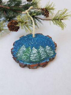 image 0 Handpainted Christmas Ornaments, Hand Painted Ornaments, Christmas Candle, Wood Ornaments, Rustic Christmas, Christmas Crafts, Christmas Decorations, Holiday Decor, Christmas Stuff