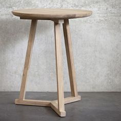 Ethnicraft Tripod Table - Solid Timber Furniture - Curious Grace