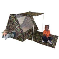 Kid's Adventure Camo Fort Play Tent Set 00203-7,    #Kid's_Adventure_00203-7