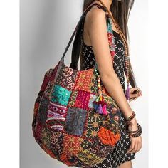 Handmade Handbag Purse Shoulder Beach Bag Tote Boho Patchwork Embroidered Hippie for sale online Hippie Bags, Boho Bags, Bohemian Bag, Patchwork Bags, Quilted Bag, Mochila Hippie, Sac Vanessa Bruno, Gypsy Bag, Carpet Bag