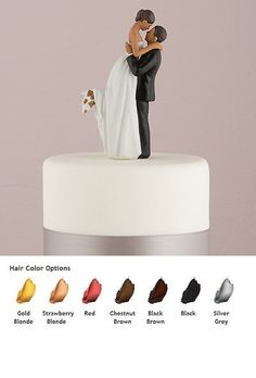 Wedding Cakes Toppers: True Romance Wedding Cake Topper Medium Skin Tone Personalized BUY IT NOW ONLY: $34.99