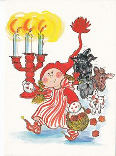 Virpi Pekkala, Finland. Noel Christmas, Christmas Images, Christmas Illustration, Cute Illustration, Humor Grafico, Doll Eyes, Scandinavian Christmas, Whimsical Art, Xmas Cards