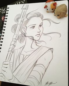 #freecomicbookday #starwars #rey #sketch