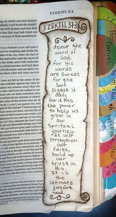 God's word is food for the soul Bible Journaling