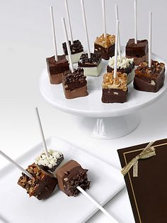 Belgian Chocolate-Dipped Brownie Pops saksfifthavenue