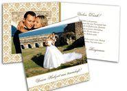 Stilvolle Danksagungskarten mit edlem Muster Place Cards, Polaroid Film, Place Card Holders, Pictures, Thanks Card, Card Wedding, Invitations, Patterns
