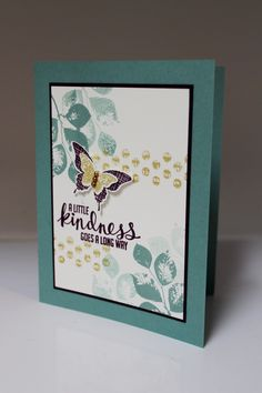 """Stamp-a-Stack July 2014 with demonstrator Dianna Nicholson. Stampin Up: """"Kinda Eclectic"""" stamp set, Elegant Butterfly and Bitty Butterfly punches"""