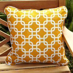 @Overstock - Decorate the furnishings on your patio or deck with these square outdoor pillows featuring a vibrant yellow pattern and plush, soft feel. This set of outdoor throw pillows is resistant to damages from weather elements, stains and fading.http://www.overstock.com/Home-Garden/Penelope-Yellow-22-inch-Square-Outdoor-Pillow-Set-of-2/6694566/product.html?CID=214117 $49.99