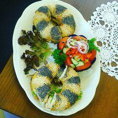 """Polish """"kanapki"""" ^^ Polish Food, Polish Recipes, Enjoy It, Bagel, Polish Food Recipes"""