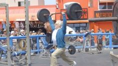 Weightlifter Pranks Muscle Beach Strongmen  thumbnail