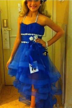 Little Rosie Pageant Dresses 2015 Cute Hi Lo Little Flower Girls Pageant Dresses For Kids Glitz Ritzee Beaded Organza Royal Blue Halter Cheap Prom Party Gowns Custom Formal Dresses 2015 From Nameilishawedding, $73.3| Dhgate.Com