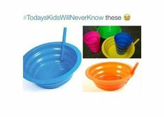 I LOVED this bowl when I was little! I completely forgot about it. At least, I loved it until mold starting growing in the straw. A sad day when I could no longer drink milk like this and the bowl is thrown away.