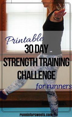 0abd3d1b5 30 Day Strength Training Challenge for Runners | Follow the daily exercises  in this plan to increase your strength and prevent injuries in 30 days.