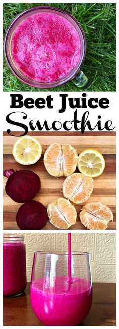 Beet Juice Smoothie - a light, refreshing and citrusy twist on beet juice, this drink is a great way to start your day. Best Smoothie Recipes, Good Smoothies, Juice Smoothie, Vitamix Juice, Morning Smoothies, Juice Recipes, Healthy Juices, Healthy Drinks, Healthy Detox