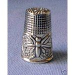 Sterling Antique Style Sewing Thimble ~*~ Butterfly
