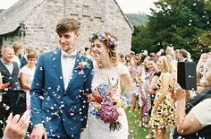 Image by Ann-Kathrin Koch Photography - Lace Lusan Mandongus and Belle & Bunty bridal gowns for a welsh speaking rustic wedding in Snowdonia Wales by Ann-Kathrin Koch photography