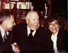 Mel Brooks & Anne Bancroft with Alfred Hitchcock.