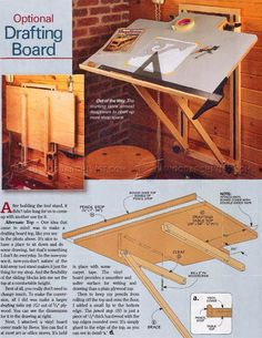 diy table saw Woodworking Bench, Woodworking Crafts, Vinyl Board, Drawing Desk, Diy Table Saw, Art Desk, Decor Interior Design, Tricks, Planer