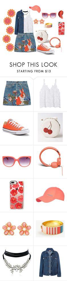 """Look cute"" by megeller on Polyvore featuring moda, Gucci, Converse, Urbanears, Casetify, Reebok, Ben-Amun, Ann Taylor, WithChic e Sans Souci"
