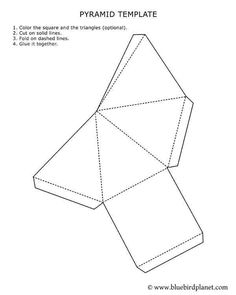 Free printable worksheets for preschool, Kindergarten, 1st, 2nd, 3rd, 4th, 5th grades. Pyramid Template.