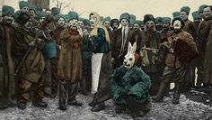 Russian Soldiers Masquerade Party during World War 1 Troops in Salonica Salonica…