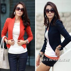 2014 New Women Ladies Long Sleeve Shrug Open Slim Fit Basic Office Suit Blazer Cropped Jacket S M L Big Size Free Shipping 1031 US $16.28 - 16.88, Free Shipping to Australia
