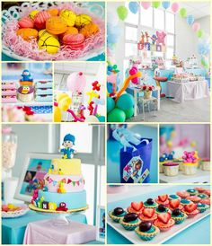 S party ideas girly pocoyo birthday party planning idea 2nd Birthday Party Themes, 1st Birthday Girls, Birthday Fun, First Birthday Parties, First Birthdays, Birthday Ideas, Birthday Cake, Childrens Party, Dessert