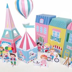 Printable Paper Craft PDF Print, make and play! Paris Fantastique ~ Printable paper craft collection inspired by the fantastical magic of Paris, France. A fun printable paper craft project you can print from your home computer and make yourself.