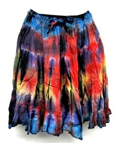 Fair Trade crinkle skirt made in Thailand  uniquebatikfairtrade.com $28