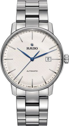Rado Watch Coupole Classic White XL #add-content #basel-16 #bezel-fixed #bracelet-strap-steel #brand-rado #case-depth-10-3mm #case-material-steel #case-width-41mm #date-yes #delivery-timescale-call-us #dial-colour-silver #gender-mens #luxury #movement-automatic #new-product-yes #official-stockist-for-rado-watches #packaging-rado-watch-packaging #style-dress #subcat-coupole #supplier-model-no-r22876013 #warranty-rado-official-2-year-guarantee #water-resistant-50m