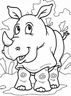 Rhino Coloring Pages: Here are ten coloring sheets that you can use to teach…