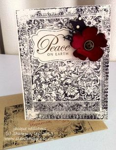 Ex Libris in Christmas.  Love this vintage look!  And yet so quick to do