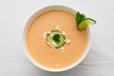 Kalte Gurken-Tomaten-Suppe