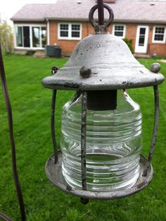 Light Hanging Rustic Industrial Glass and by cabinintheheartland, $32.00