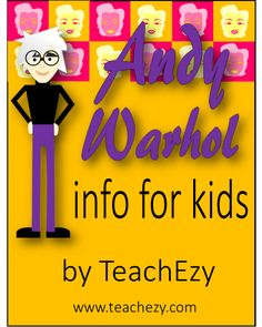 Andy Warhol Biography-Information for Kids. Interesting #art facts about…