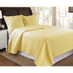 Bedroom #5~Vashon 3-piece Quilt Set-Yellow