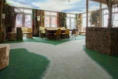 Cool gathering space in senior facility in The Netherlands. #BiophilicDesign #Biophilia #Nature #UrbanRetreat