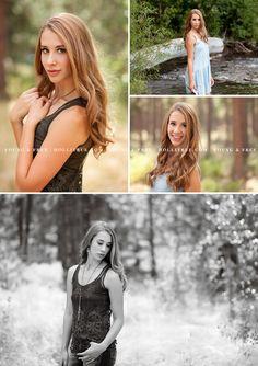 Oregon senior portrait photographer, Holli True, photographs Class of 2016 high school senior, Ellie, at the beautiful, natural Shevlin Park, in Bend.