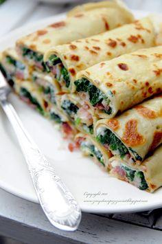 Szpinak, feta i szynka parmeńska. Cooking Recipes, Healthy Recipes, Vegan Dishes, Food Design, Eating Habits, Food Inspiration, Appetizer Recipes, Love Food, Food To Make