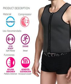 a660ac4ebcc5b NINGMI Slim Mens Vest Tank Top Neoprene Sauna Suit Hot Sweat Shirts Waist  Trainer Body Shaper