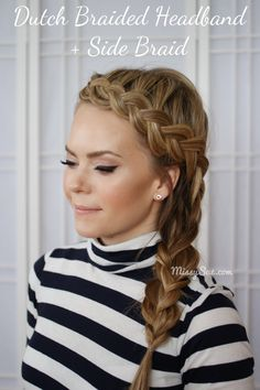Side braid how to!