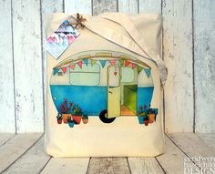 Hey, I found this really awesome Etsy listing at http://www.etsy.com/listing/102863936/vintage-blue-caravan-illustration-eco