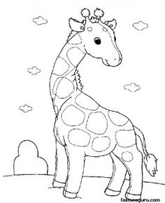 Free Printable Giraffe Coloring Pages from Animal Coloring Pages category. Printable coloring images for kids that you could print and color. Have a look at our collection and printing the coloring images free of charge. Zoo Animal Coloring Pages, Giraffe Coloring Pages, Preschool Coloring Pages, Coloring Pages For Girls, Cute Coloring Pages, Cartoon Coloring Pages, Coloring Pages To Print, Free Printable Coloring Pages, Coloring For Kids